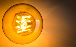 Top view of vintage glowing light Stock Image