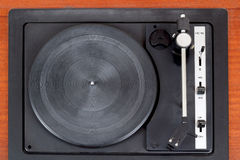 Top view of vintage gramophone player Royalty Free Stock Photography