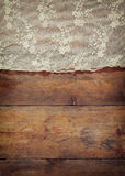 Top view of vintage hand made beautiful lace fabric Royalty Free Stock Image