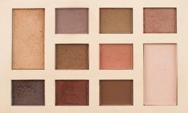 Top view of vintage makeup kit Stock Photo