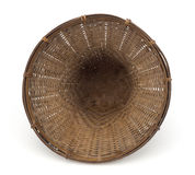 Top view vintage weave wicker basket Royalty Free Stock Photos