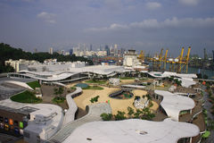 Top View of Vivo City. A new shopping center in Singapore Stock Photo