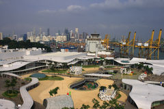 Top View of Vivo City. A new shopping center in Singapore Royalty Free Stock Image