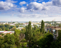 Top view of at Vladimir. Top view of old district at Vladimir city. Russia stock images
