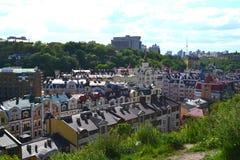 Top view on Vozdvizhenskaya street Kyiv, Ukraine. stock photo