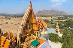 Top view of wat tham sua public buddhist thai temple in Thailand Royalty Free Stock Images