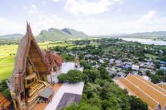 A top view of wat thum sua (Tiger Cave Temple) Royalty Free Stock Photos
