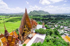 A top view of wat thum sua (Tiger Cave Temple) Stock Photography