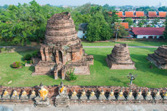 Top view wat yai chaimongkhon Royalty Free Stock Photography