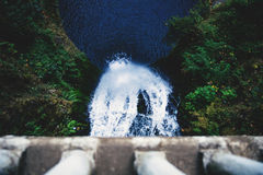 Top View of Water Falls Royalty Free Stock Photography