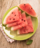 Top view of watermelon slice Royalty Free Stock Photography