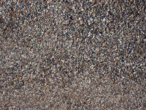 Top view of wet sand and small stones with fragments of shells Stock Photography