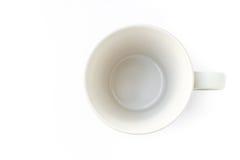 Top view white ceramics mug for coffee mug Stock Photography