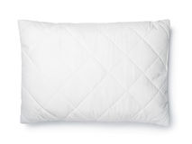 Top view of white cotton pillow. Isolated on white Stock Photography