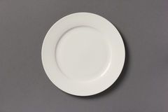 Top view of white empty plate Stock Photos