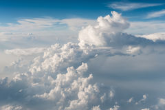 Top view of white fluffy clouds Stock Photography