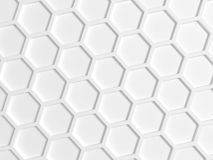 Top view of white honeycomb pattern vector illustration