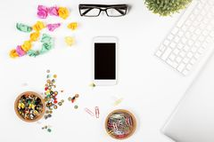 Phone advertisement concept Royalty Free Stock Image