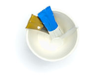 Top view of white paper cup Royalty Free Stock Photo