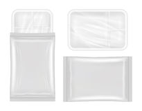 Top view of White polystyrene and plastic packaging mockup. A top view of White polystyrene and plastic packaging mockup Stock Photos