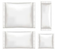 Top view of White polystyrene and plastic packaging mockup. A top view of White polystyrene and plastic packaging mockup Royalty Free Stock Images