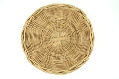 Top view Wicker baskets on white background of file with Clipping Path Royalty Free Stock Photo