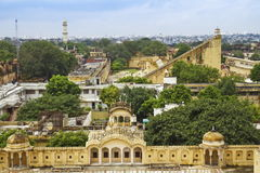 Top View Of Jantar Mantar. Top view of Wind Palace and Jantar Mantar,Jaipur,Rajasthan royalty free stock image