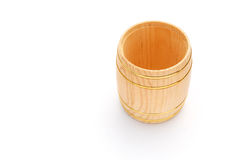 Top view wooden barrel Royalty Free Stock Photos