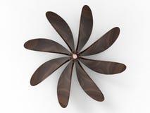 Top view - wooden propeller vector illustration
