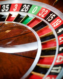 Top view of wooden roulette Royalty Free Stock Images