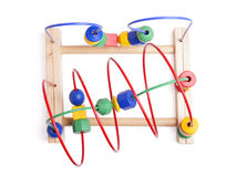 Top view wooden toy Royalty Free Stock Images