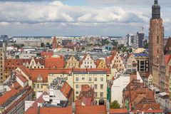 Top view of the Wroclaw / city panorama Royalty Free Stock Photography
