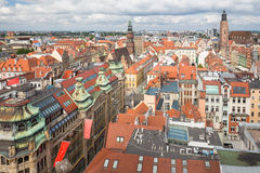 Top view of the Wroclaw / city panorama Stock Image
