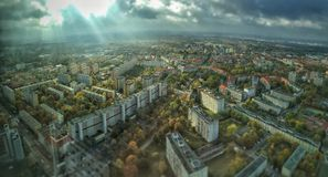Top view of Wroclaw, Poland Royalty Free Stock Photography