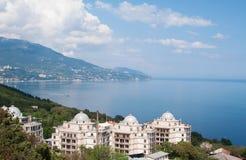Top view of Yalta coast of Black sea, Crimea Stock Photo
