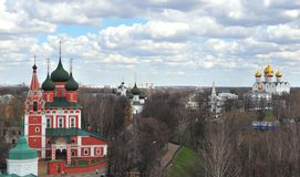 Top view of Yaroslavl old town Stock Photos