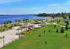Top view of Yaroslavl town park Stock Photography