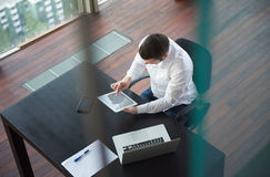 Top view of young business man at office Stock Images