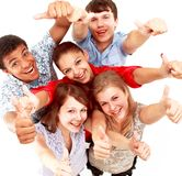 Top view of young friends Stock Images