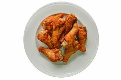 Yummy crispy fried chicken drumstick dish Royalty Free Stock Image