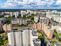 Top view of Zelenograd administrative district in Moscow, Russia Stock Images