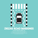 Top View Of Zigzag Road Markings. Stock Image