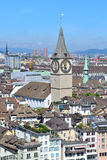 Top-view of Zurich Royalty Free Stock Photos