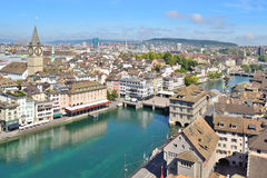 Top-view of Zurich Stock Photography