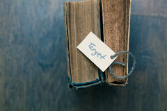 Top Viewed vintage book with a sign - target Stock Images