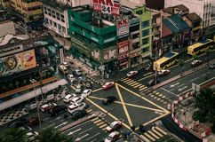 KL streets. The top views of an bulding in Kuala Lumpur, Malaysia royalty free stock photo
