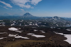 Top of Vilyuchinskaya volcano viewed from Gorely Volcano Royalty Free Stock Photography
