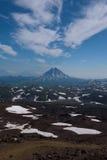 Top of Vilyuchinskaya volcano viewed from Gorely Volcano Stock Photos