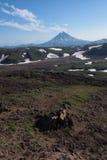 Top of Vilyuchinskaya volcano viewed from Gorely Volcano Stock Photography