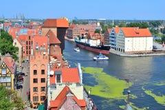 Top-vista de Gdansk Imagenes de archivo
